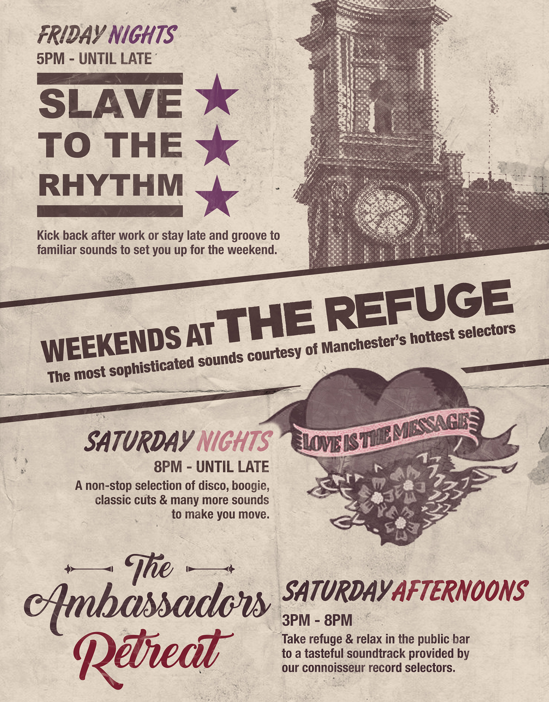 Refuge weekends poster